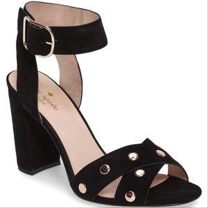 KATE SPADE Black Suede Oakwood High Heel- 6.5